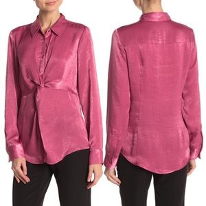 NWT Laundry by Shelli Segal Knot Front Blouse
